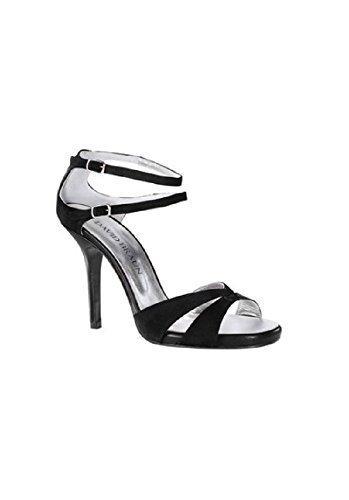 Sandalo col tacco alto in pelle di David Marrone Nero