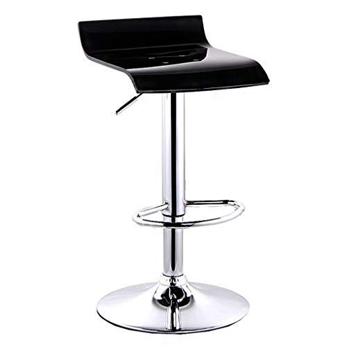 ZE Sitz Stuhl-Bar Stuhl Platz Acryl Stuhl Oberfläche Bar Stuhl Einfache Aufzug Bar Stuhl Bar Haushalt Hoher Hocker Rezeption Stuhl Basis 38.5Cm --- Schwamm + Kunstleder / Massivholz Stuhl Oberfläche, -