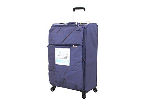 Trolley 4 Ruote UltraLeggero Pellicano CRISS Grande Blu Espandibile, Etichetta porta nome e Lucchetto TSA per Stati Uniti in Omaggio!