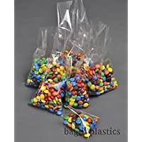 "100 5"" x 7"" (125mm x 175mm) Clear Cello / Cellophane Bags No Seal - Perfect for Lollipops Small Cookies and Sweets"