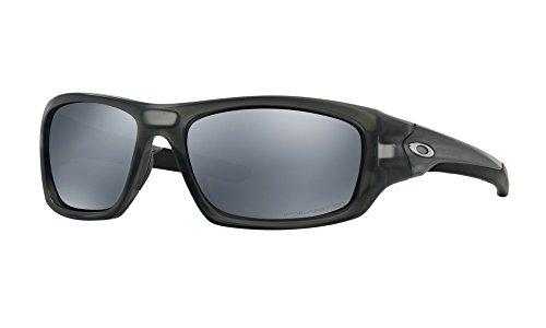 Oakley Herren Valve Sonnenbrille, Matte Grey Smoke/Black Iridium Polarized (S3), 60