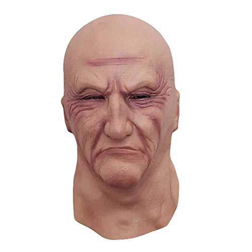 (Halloween Maske Horrorgeschichte Liebhaber Party Kopfbedeckungen beängstigend Parodie Latex Haube freie Maske des Alten Mannes des Make-up)