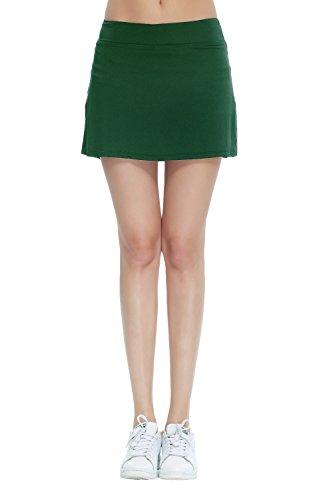 HonourSport Damen Mädchen Tennisrock mit Sporttights Skirt Minirock Sport Skort XS-XXL (Tennis-skort)