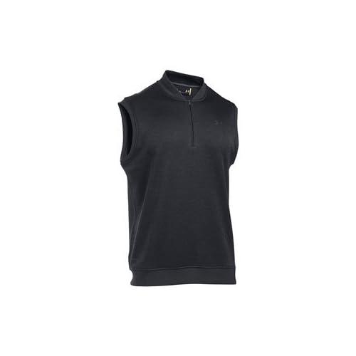 Under Armour 2017 Golf Sweater Fleece Vest Zip Neck Tank Top Mens Slipover Asphalt Heather Medium