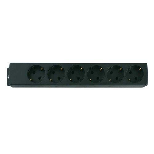 REV Ritter 0512391555 Steckdosenleiste 6-fach ohne Leitung, schwarz