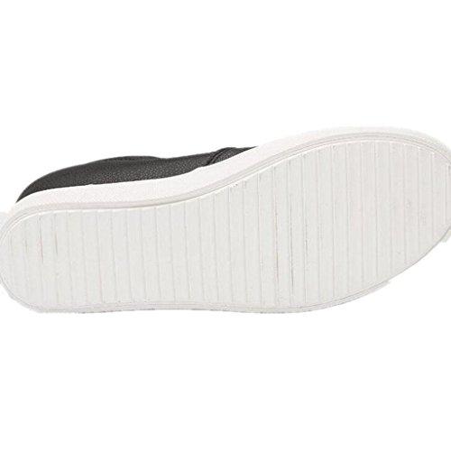 SHFANG Dame Schuhe Interne Zunahme Freizeit Kleine weiße Schuhe Bewegung Permeability Bequeme Studenten Drei Farben Black
