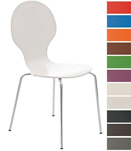 CLP Stapel-Stuhl DIEGO, Holzsitz, robust, pflegeleicht, ergonomisch geformt, 12...
