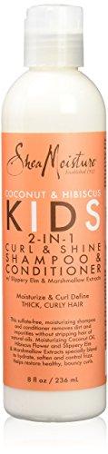 Shea Moisture Coconut & Hibiscus Kids 2-In-1 Curl & Shine Shampoo & Conditioner 8oz 236ml Haarwaschmittel und Pflegespülung für Kinder -