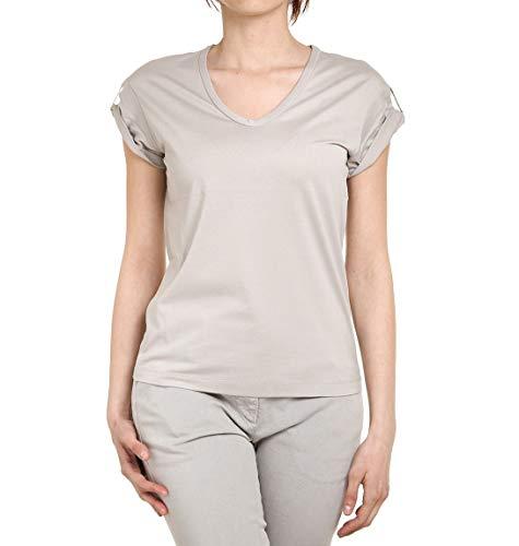 Brunello Cucinelli T-Shirt Donna Mr97342d10c2428 Cotone Beige
