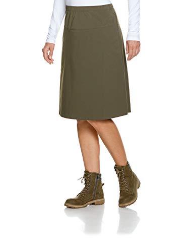 Tatonka Tori W's Skirt - A Linien Rock für Damen - mit Gummibund und aus PFC-freiem Softshell-Material - Größe 44 - Oliv -Regular Fit - für Outdoor, Wandern, Trekking, Reisen und Freizeit
