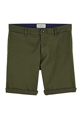 Scotch & Soda Herren NOS Chino Shorts, Grün (Military 65), W(Herstellergröße: 31) -