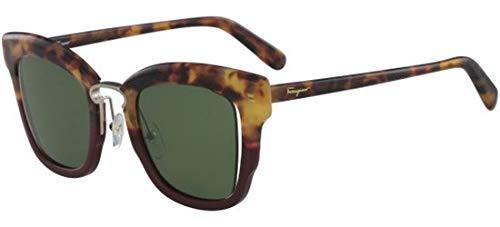 Salvatore ferragamo occhiali da sole sf 886s red havana/green donna