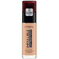 L'Oréal Paris24H Fresh Wear Base de Maquillaje de Larga Duración, Tono 235 Miel/Honey- 30 ml