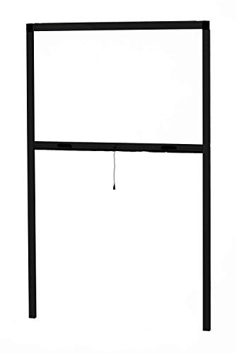Zanzariera per finestra, avvolgibile, in alluminio, con rullo in alluminio, fissaggio facile e installazione rapida, grigio