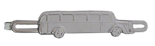 magdalena r. Oldtimer Bus Krawattenklammer Krawattennadel silberfarben glänzend m.i. Germany + Silberbox