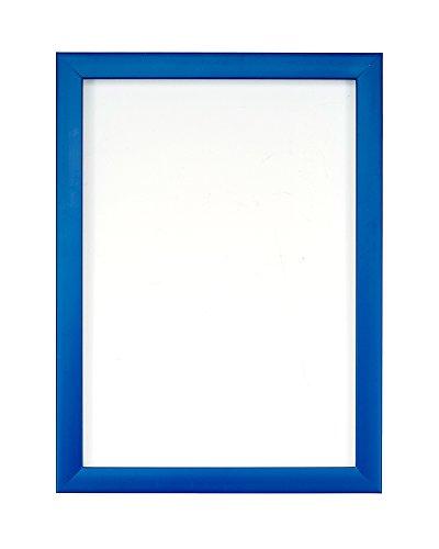 Cornice per poster/fotografie, con pannello posteriore in MDF, pronta da appendere o esporre, con strato ad alta trasparenza infrangibile in stirene, 8colori alla moda, Polcore, Blue, 50,8 x 40,6 cm