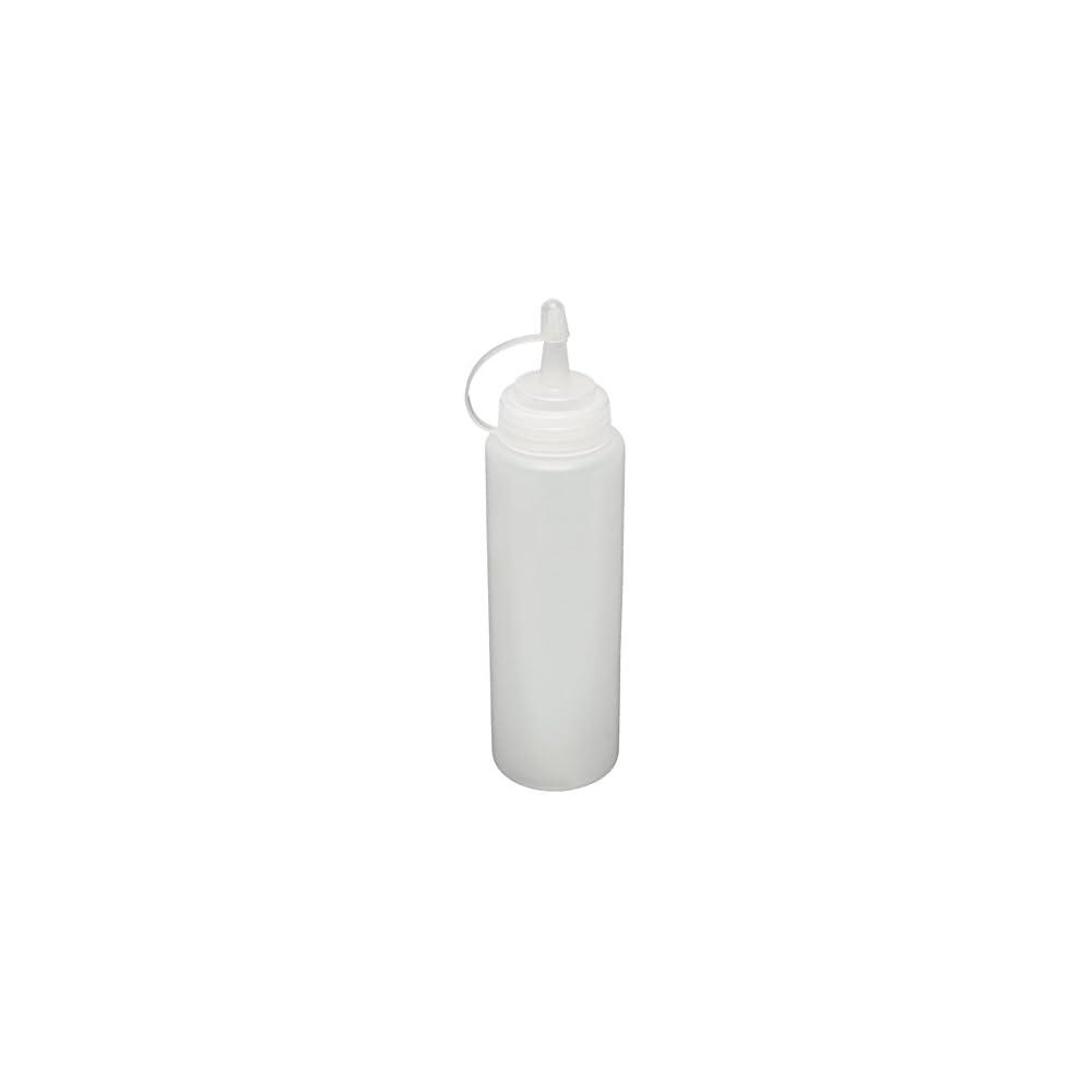 Sodial R 8x Klare Weisse Kunststoff Squeeze Sauce Ketchup Cruet Oelflaschen 8oz