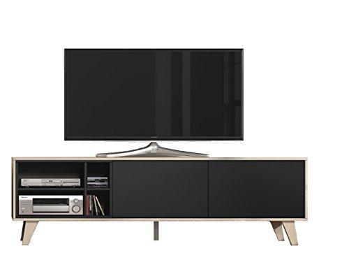 Mueble de tv, acabado color Roble y Gris Oscuro, medidas 180x54x41 cm de fondo