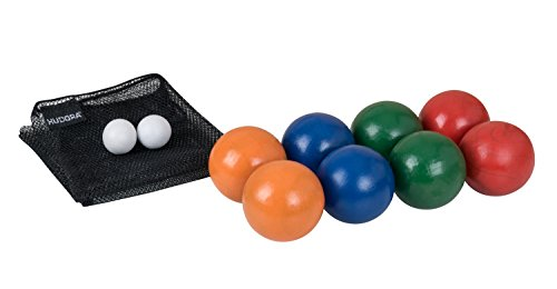 HUDORA Boccia Spiel Boule Set, Holz, mit 8 Kugeln - 76471