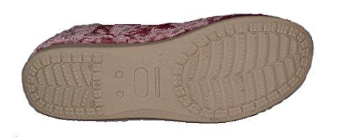 Dunlop Florence Pantofole da donna con piccolo risvolto Rose