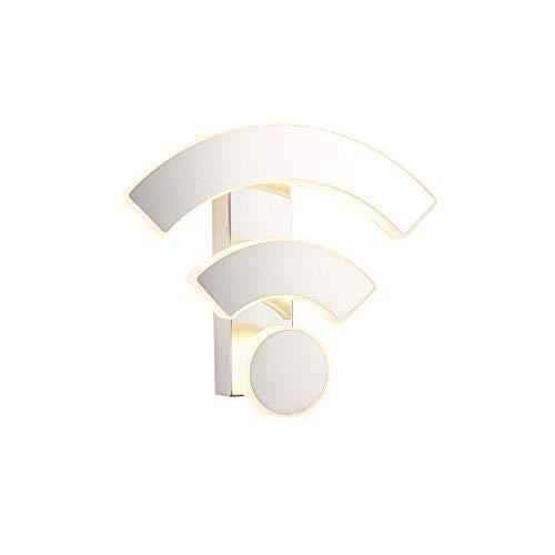 Lustige wifi logo form acryl wandleuchte led innenwandleuchten led wandleuchte lampe lichter für schlafzimmer wohnzimmer treppe @ weißes licht
