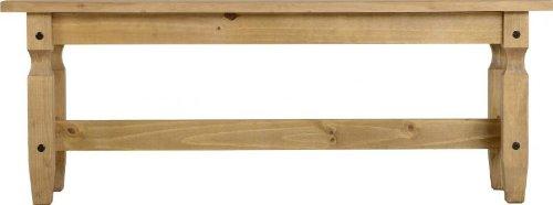 Corona 4` Dining Bench In Distressed Wax Pine