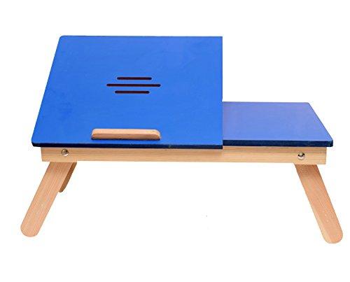Emeret Multipurpose Wooden Laptop Table (Blue)