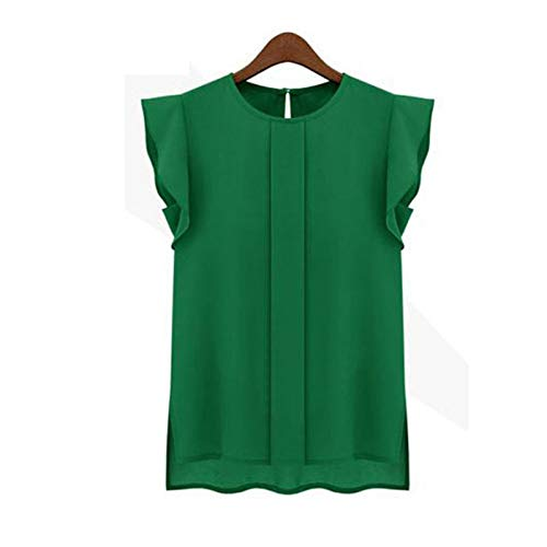 WDFSER Women Casual Loose Chiffon Tulip Tops Market Fitting Tank Tops Sexy - Loose Tank Fitting