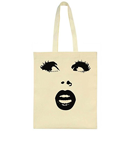 Pretty Woman Face With Nice Lips And Gorgeous Lashes Tote Bag (Für Creative Halloween Face Make-up)