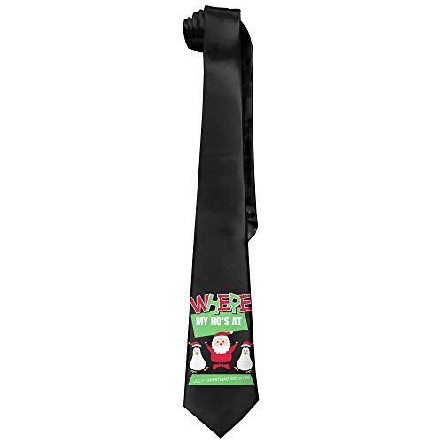 Men's Printed Floral Neck Tie Ugly Christmas Sweater Christmas Santa Fashion
