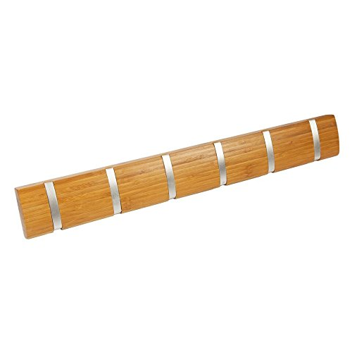 bamboo-6-hooks-wall-mounted-flip-coat-clothes-hook-hanger