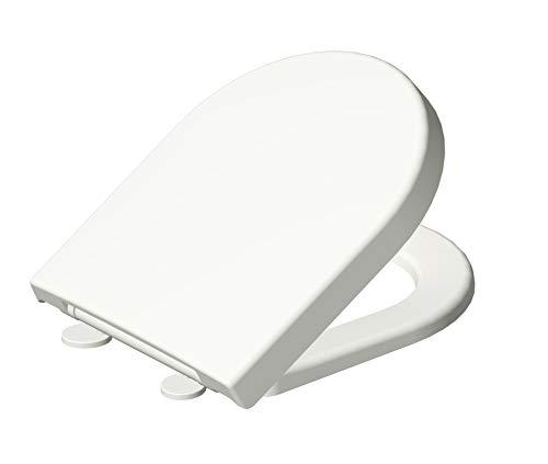Grünblatt WC Sitz 515201 passend speziell zu V&B Subway 2.0, Absenkautomatik und abnehmbar zur Reinigung, Hochwertiges Material Duroplast, weiß