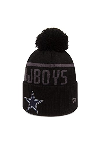 Cowboys Acryl (New Era NFL Blk Coll Knit Bommelmütze DALLAS COWBOYS Schwarz, Size:ONE SIZE)