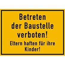 Schild Unbefugten ist das Betreten des Grundstückes verboten Alu 25x35cm