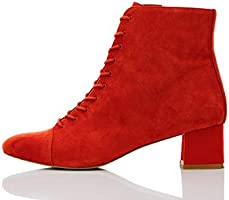 Marque Amazon - find. Lace Up Block, botines femme