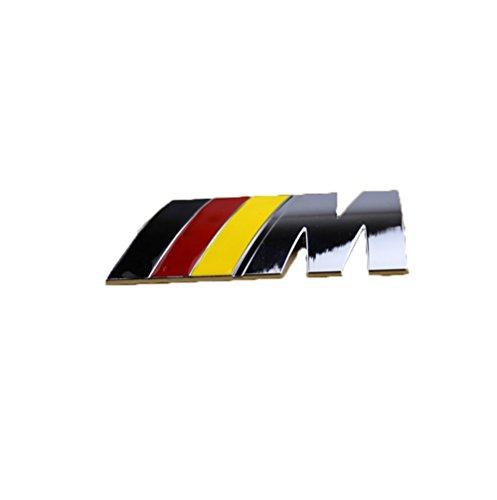 Fireman's High Quality Stylish 3D Metal Grill Car Sticker Rear Trunk Emblem for E46 E30 E34 E36 E39 E53 E60 E90 F10 F30 M3 M5 M6 (Sliver German M)