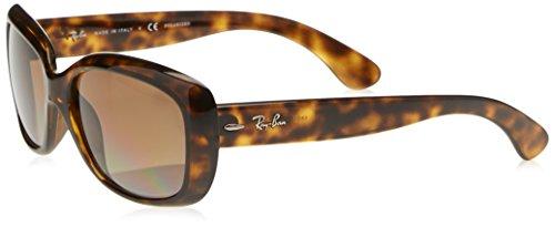 Ray-Ban RAYBAN Damen Sonnenbrille 4101, Light Havana/Greygradientbrownpolar, 58