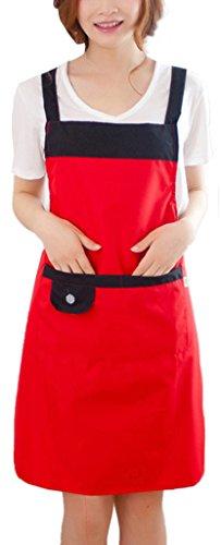 Wasserdichte Küche Restaurant Bar Schürze mit Taschen, (Halb Frau Halb Mann Kostüm)