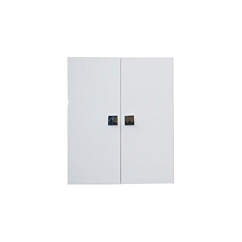 Pensile Bagno Multiuso Bianco Lucido 2 Ante 60x17xh.70 Cm