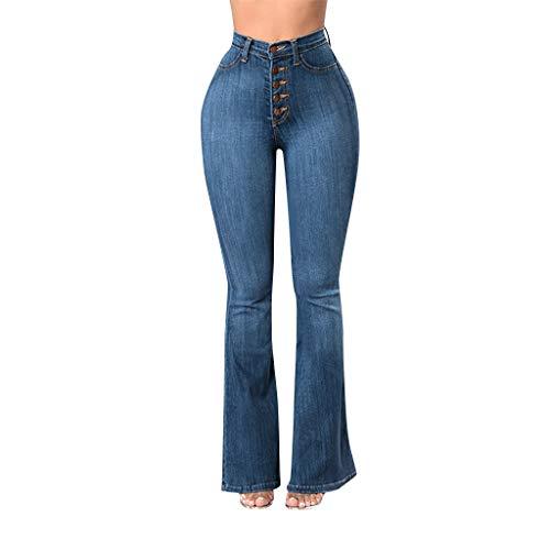 STRIR Vaqueros Talla Grande Mujer,Mujeres De Cintura Alta Pantalones Vaqueros Pantalones Largos...