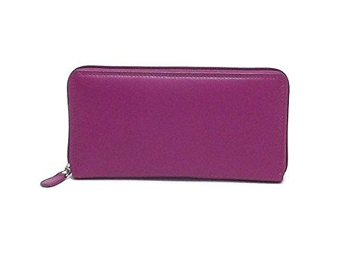 Roncato portafoglio donna, 411354, portafoglio in pelle, colore ciclamino A6102