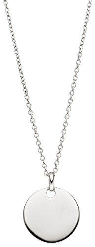 Laimons Damen-Anhänger mit Kette Gravurplatte glanz Sterling Silber 925