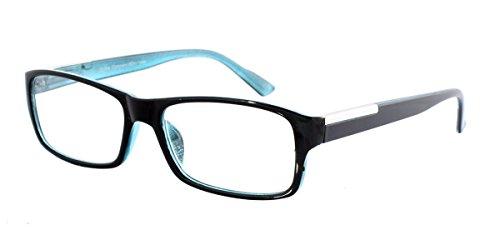 STRIKE Lesebrille Lesehilfe mit Two Tone Kunststoffrahmen und Flexbügeln schwarz blau unisex +2