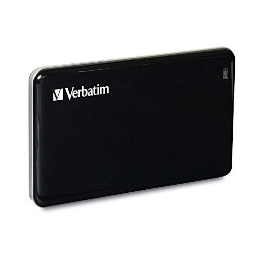 Verbatim externe SSD-Festplatte 256GB (5000 Mbps, USB 3.0) schwarz