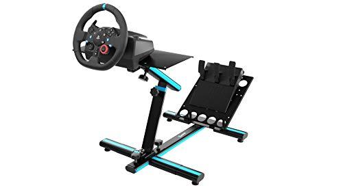 Newskill Byakko V2 - Supporto per volante regolabile in altezza e profondità (materiali in acciaio e gomma naturale) Nero (compatibile con un'ampia gamma di volani)