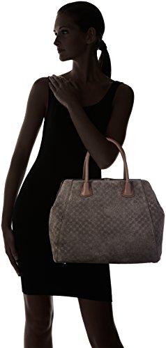 JOOP - Velluto Stampa Myrrha Shopper Lvz, Borsa a mano Donna Grigio (Dark Gree)