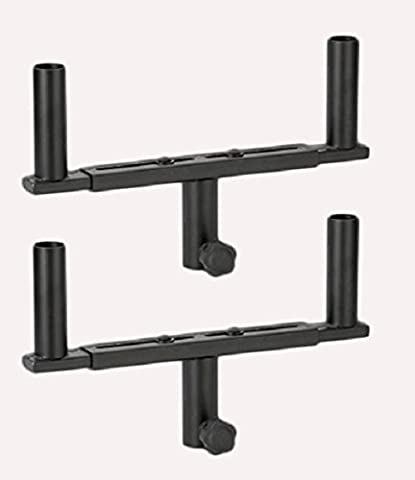 2 x Adam Hall SPS823 Dual Speaker Stand Mount Fork for Twin Speakers