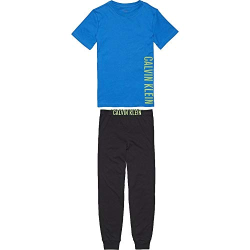 Calvin Klein Boys Intense Power Pyjama Set - Blue/Black Age 12-14 -
