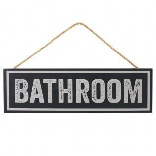 Schwarz & Grau Badezimmer Schild