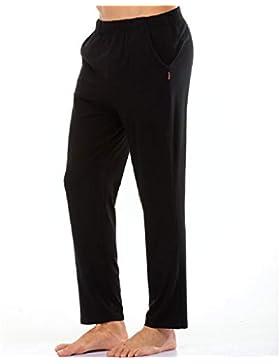 Meaeo Algodón Dormir Leggings Pijamas De Los Hombres Pijamas Simples Hombres Transpirables Pantalones De Hombre...